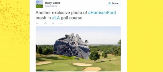 Le Faucon Millenium écrasé sur un terrain de golf