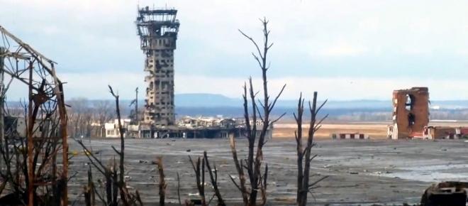 Donezk, zerstörter Flughafen