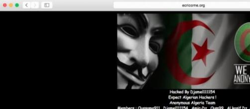 Anonymous Algeria; hackage 7 mars 2015
