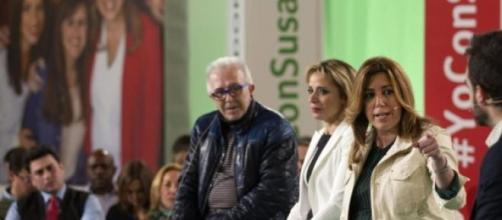 Susana Díaz durante un mitin político.
