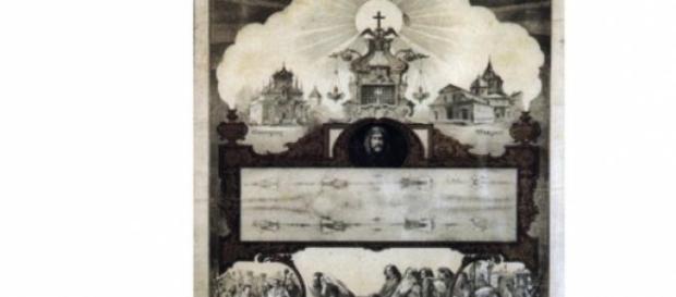 Afis care prezinta expunerea publica a giulgiului