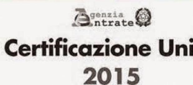 Nuovo CUD 2015: Certificazione Unica.