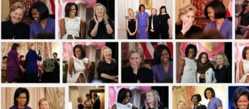 Michelle Obama & former S.of State Hillary Clinton
