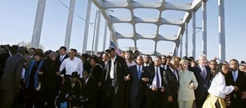 Obama prend la pose sur le pont Edmund Pettus