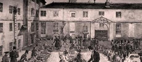 gravure du bagne de Toulon - -