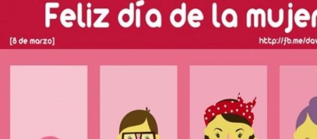 Cartel que celebra el Día de la Mujer.
