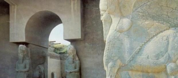 Palasttor in der Ausgrabungsstätte von Nimrud.
