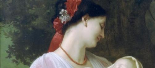 Amore materno di William Adolphe Bouguereau