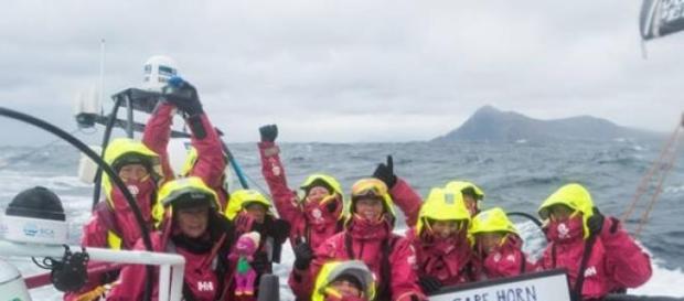 Tripulação feminina Team SCA cruzou o cabo Horn