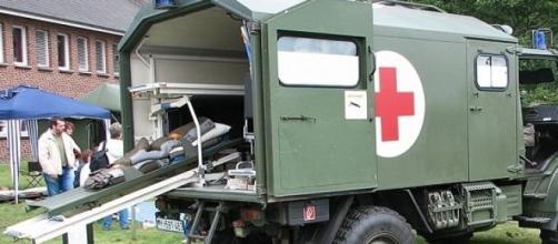 Caminhão da Cruz Vermelha