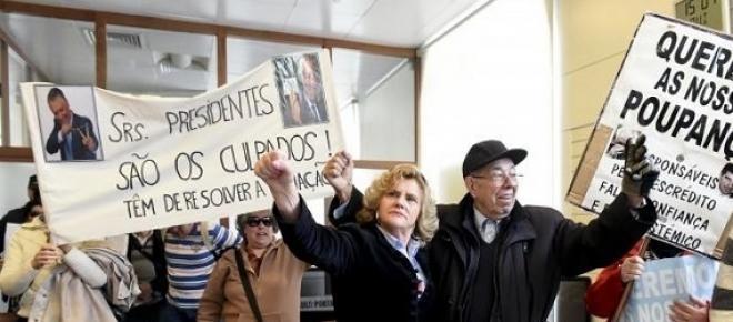 Protestos na sede do Novo Banco