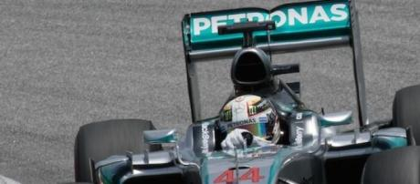 Hamilton taking charge in the Mercedes AMG W06