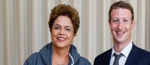 Dilma e o fundador do Facebook, Mark Zuckerberg