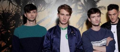 Glass Animals, Drew is third from the left.