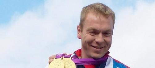 Sir Chris Hoy during his glorious Olympic career