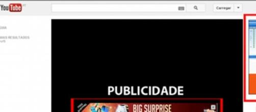 YouTube: publicidade exagerada.