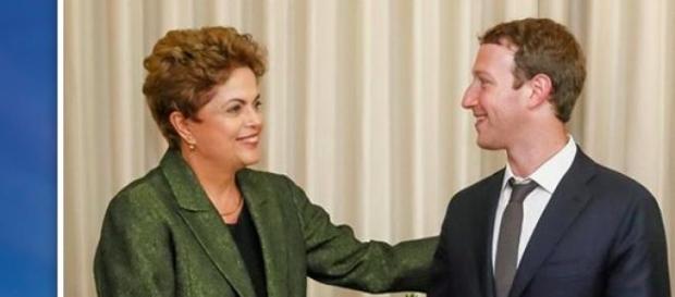 Presidente do Brasil com o fundador do Facebook