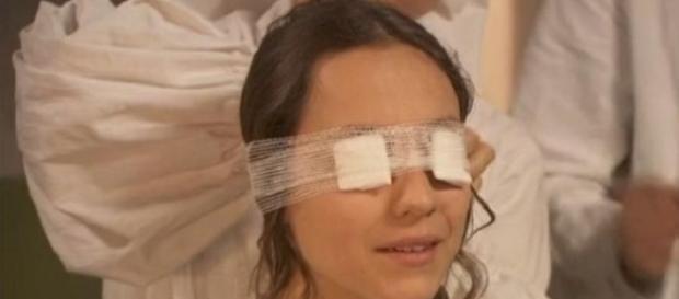 Quintina riacquista la vista