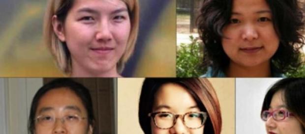 As 5 ativistas que ainda estão presas na China