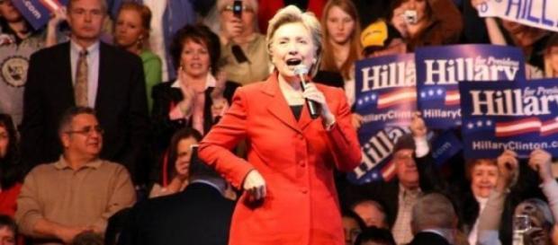 H. Clinton lors de la campagne des primaires 2008