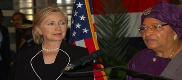 Hillary Clinton et Ellen Johnson-Sirleaf
