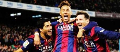 Suarez, Neymar e Messi tridente del Barça