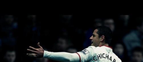"Así festejó ´Chicharito"" Hernández su gol"