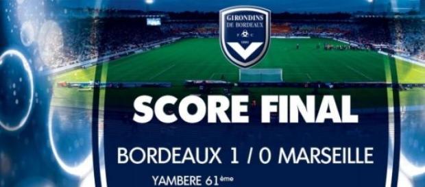 Bordeaux l'emporte 1-0 contre l'OM