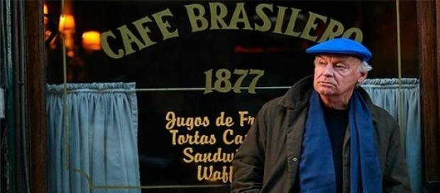 """Galeano iba el bar """"Café Brasilero"""" en Montevideo"""