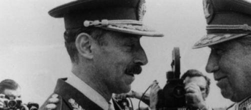El dictador Videla con su 'colega' Pinochet