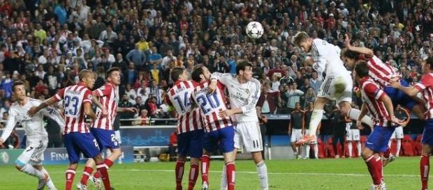 Gol de Sergio Ramos na final de 2013/2014.