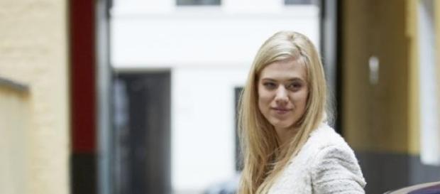 """Larissa am Set von """"Alarm für Cobra 11"""" für RTL."""