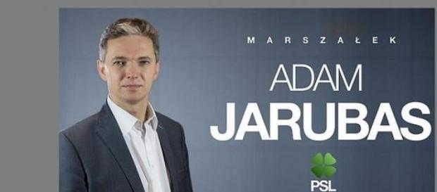 Poster Adam Jarubas, mat. prasowy