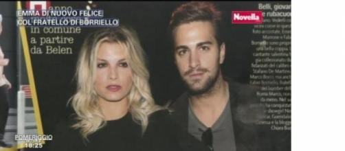 Emma Marrone bacia Fabio Borriello ad Amici 14.