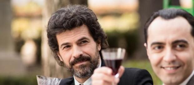 Julián brindando con Lorca