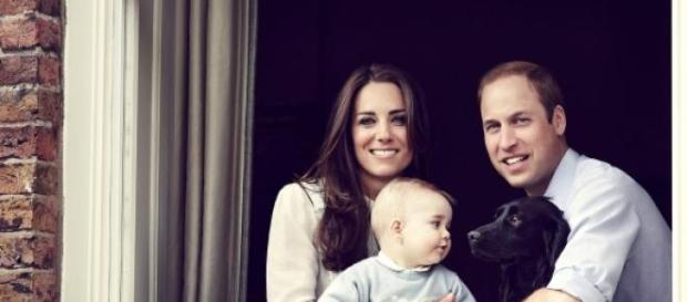 Kate Middleton, William e George