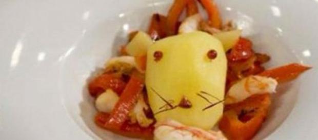 Presentación del plato 'León come gamba'. TVE