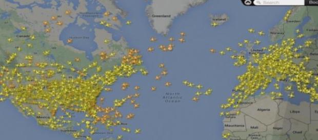Situación real de vuelo en el mundo