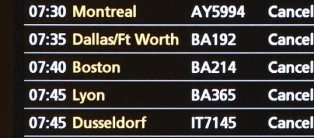 vuelos y vacaciones canceladas