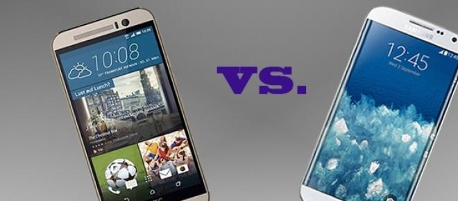 Telemóvel HTC One (M9) Vs. Samsung Galaxy S6