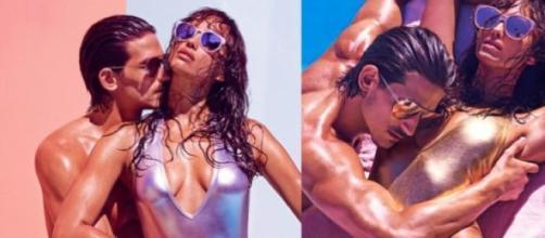 Irina Shayk deslumbrante com o modelo Jarrod Scott