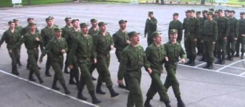 O grupo de soldados russo