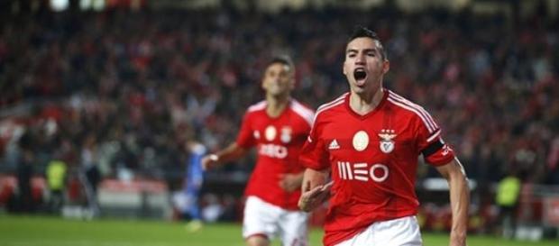 Nicolas Gaitan, médio do Sport Lisboa e Benfica.