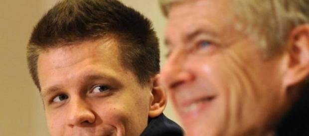 Wojciech Szczęsny i Arsene Wenger