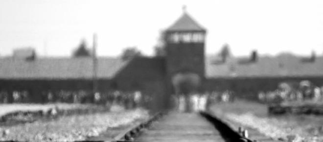 A picture of the notorious concentration camp Auschwitz Birkenau for the event of commemorating the Holocaust day in Israel