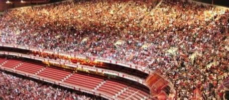 Imagem vais vista no Estádio da Luz esta época