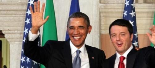 Barack Obama e Matteo Renzi.