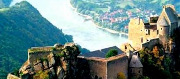 Aggstein - ruiny zamku nad Dunajem