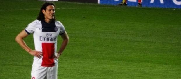 Cavani, attaquant du Paris-Saint-Germains
