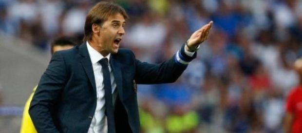 Julen Lopetegui nos planos do Real Madrid.